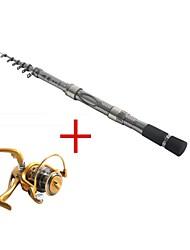 1,8 углерода серебра рыбалка среднего света удочка&комбо катушка рыболовная катушка af5000 спиннинг рыболовных катушек