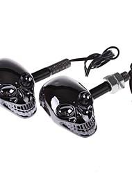 12v 1W 60lm moto feux clignotants à DEL éclairage décoratif - noir brillant (une paire)