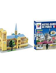 assemblage gebouw model Notre Dame de Paris 3D-puzzel educatief speelgoed 3d legpuzzels met 74pcs