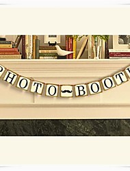 "Wedding Décor ""PHOTO BOOTH"" Cute Vintage  Party Photo Prop Banners"