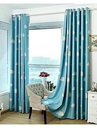 Cortinas de poliéster país europeu moderno dois painéis azul dos desenhos animados sala-de-rosa crianças cortinas