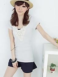 petalage-pescoço t-shirt cinza claro