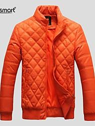 Lesmart® Men's Diamond Lattice Collar Padded Cotton Jacket Retro Fashion men's Warm Jacket