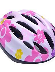 moda cómoda seguridad + eps 10 respiraderos niños 'integralmente moldeadas por el ciclismo casco - rosa roja + plata + amarillo