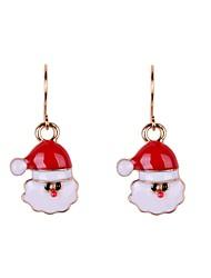 Fashion Christmas Man Enamel Earrings