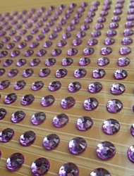 2sheet/set 300pcs/sheet 600pcs 6mm Purple Rhinestone  Self Adhesive Scrapbooking Stickers