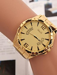 Women's Fashion Leisure Swiss Double Circle Alloy Steel Belt Watch Cool Watches Unique Watches