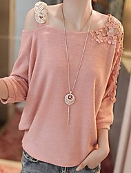 New Casual One Shoulder Cut Out Shirt