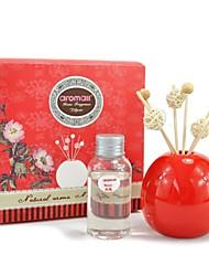 definir 60ml lírio cerâmica garrafa vermelha aromall® reed óleo difusor fragrância do sabor vale