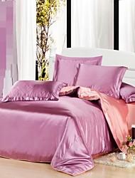 conjunto de funda nórdica, frijol dulce pasta de seda de colores mezclados hotel de 4 unidades de doble tamaño completo reina