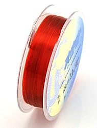 peixe nylon linha de pesca isca 0,28 milímetros (100m, 7,5 kg, vermelho)