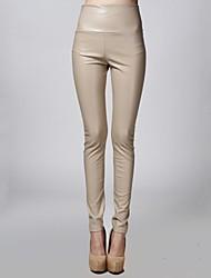 Pantalones Mujer - PU Forro de Vellón