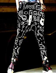 cintura elástica calças grafite padrão harém de mulheres