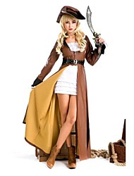 capitaine pirate luxe brun adulte costume de femme Halloween