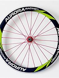 AURORA RACING 700c Road 50C-25mm Carbon Clincher Road Bike Wheels with Alloy Brake Novatec A271SB/S372SB Hubs