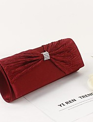 Bolso de Mano / Bolso de Noche / Bolso de Maquillaje Seda - Rojo - Mujer