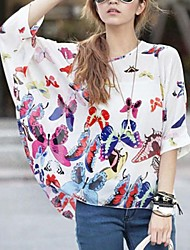 Women's Blouse , Casual/Print ¾ Sleeve