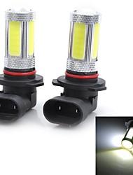 Marsing High Power 9006 25W 6500K 1800lm 5-COB LED Cool White Car Head Light / Foglight (12~24V / 2 PCS)