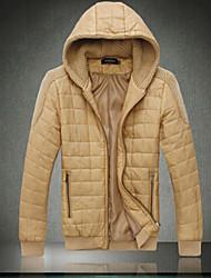 Dibai Men's Fashion Leisure Fitted Short Cotton  Coat