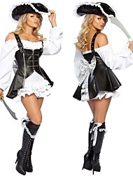 le punk pirate cuir PU& cosplay costume de coton