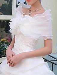 boda envuelve organza de novia mantones de la boda con las flores