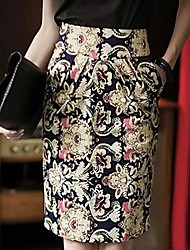 Women's Restore Ladies Casual Floral Printed Pencil Skirt