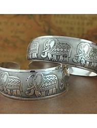 1pcs bracelet n0.4 argent sculpté la mode