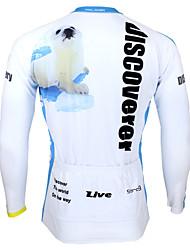 Sport Fahrradtrikot Herrn Langärmelige Fahhrad Atmungsaktiv / UV-resistant / Schweißableitend Oberteile Coolmax Tier Sommer / HerbstÜbung