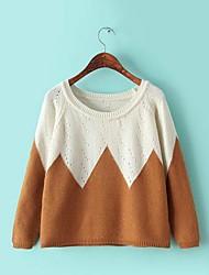 Frauen Casual Baumwolle Pullover (mehr Farben)