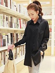versão coreana da camisa de moda casual feminina
