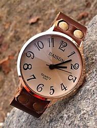 Women's High-grade Retro Personalized Leather Quartz Movement Watches