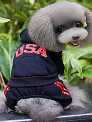 "Fashionable ""USA""Pattern Jumpsuit for Pet Dogs(Assorted Sizes and Colors)"