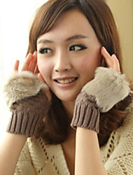 Wishes New All-Matched Fur Knitwear Gloves