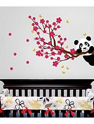 Animaux Bande dessinée Romance Retro Abstrait Stickers muraux Autocollants avion Autocollants muraux décoratifs Matériel Lavable Amovible
