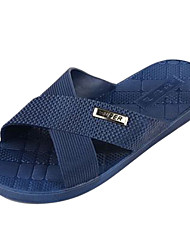 Men's Shoes Casual Synthetic Slippers Blue