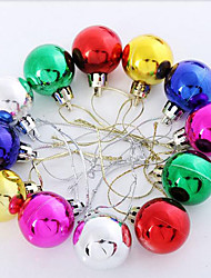 Christmas Laser Plastic Ball,Set of 6