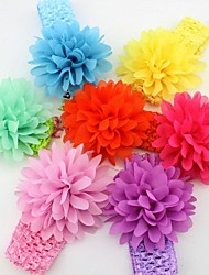 10pcs-pack Infant Baby Girl Chiffon Flower Wide Headband Toddler Elastic hairband Headwear Kids Hair Accessories