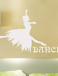 Wall Stickers Wall Decals,  Modern Dance beauty PVC Wall Stickers