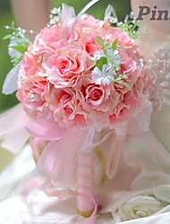Elegant Round Shape Sweet Roses Bridal Wedding Bouquet Small  (More Colors)