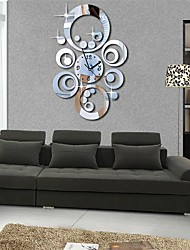 "20 ""h modern runde Kreise 3d diy Acrylspiegel Wanduhr"