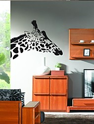 Wall Stickers Wall Decals, Home Decoration Cute Giraffe Quotes Mural PVC Wall Stickers