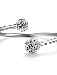 prata 925 pulseira da moda strass das Aimei mulheres