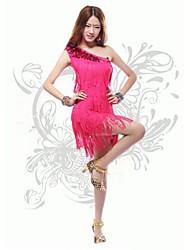 Latin Dance Dresses Women's Performance Cotton / Polystyrene Sequins / Tassel(s) Latin Dance / Jazz Spring, Fall, Winter, Summer