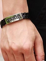 Bracelet Bracelets en cuir Cuir Acier au titane Autres Original Mode Mariage Soirée Quotidien Décontracté Sports Regalos de Navidad Bijoux