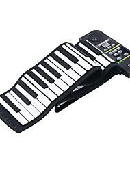 88 llave electrónica de silicio teclado de piano flexibles rollo de piano con altavoz ruidoso / pedal