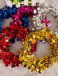 Christmas Decorating Pentagram Garland Metal,Random Color 40*40*2cm