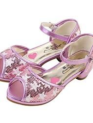 Sandales ( Noir/Pourpre ) - Similicuir - Chaussures à talons/Escarpin-sandale
