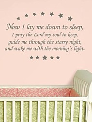 Wall Stickers Wall Decals, Modern Sleep Quote PVC Wall Stickers.