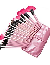 24 Makeup Brushes Set Nylon Wood Face / Lip / Eye Others