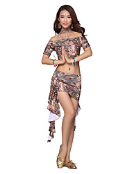 Belly Dance Dancewear Women's Silk Short Sleeves Elegant Belly Dance Outfits (More Colors)
